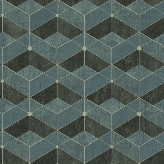 Обои AS Creation Titanium 3 38202-3 геометрия синий атрацит