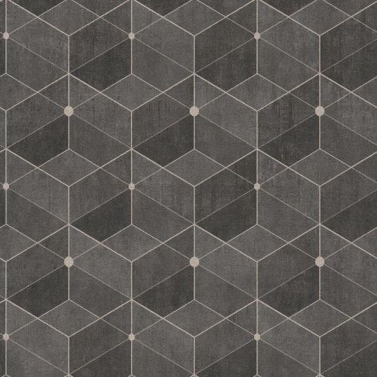 Обои AS Creation Titanium 3 38202-4 геометрия коричневая