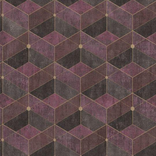 Обои AS Creation Titanium 3 38202-5 геометрия бордовое