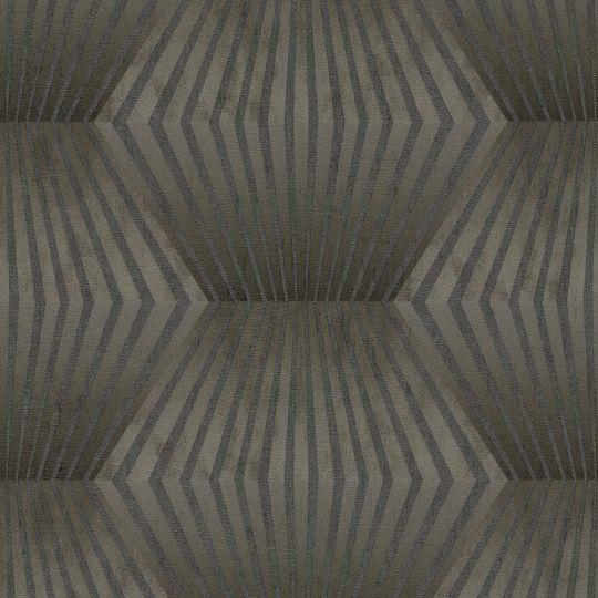 Обои AS Creation Titanium 3 38204-2 3D ромбы темно-коричневые