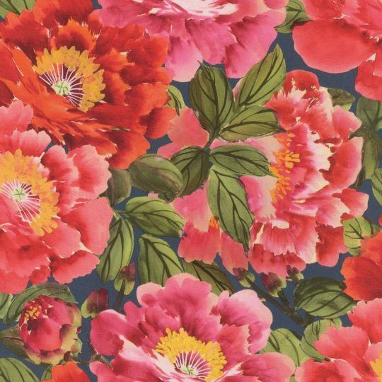 Обои Rasch Kimono 408355 цветущий сад красно-розовый