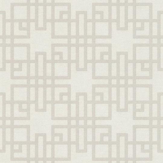 Шпалери Rasch Kimono 409239 японський візерунок біло-сірий