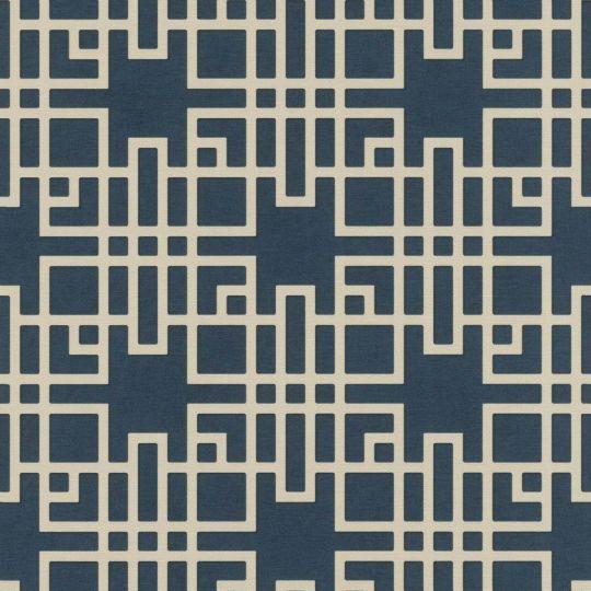 Шпалери Rasch Kimono 409253 японський візерунок синій