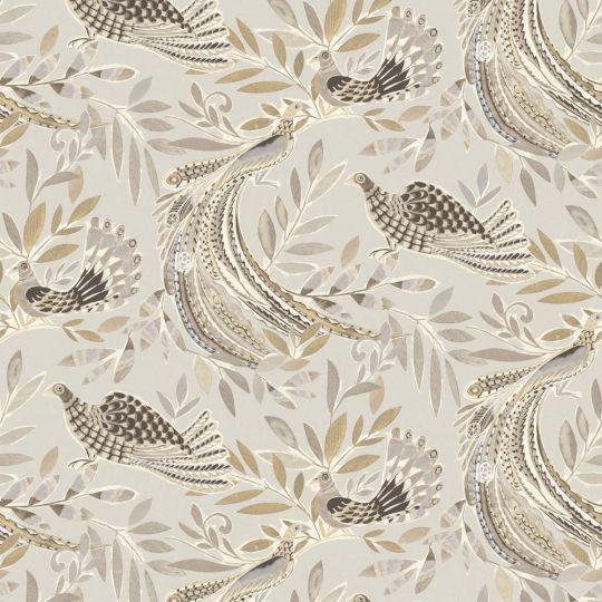Обои JWall Paraiso 50301 райские птицы серо-коричневые