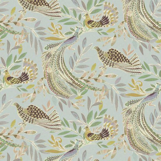 Обои JWall Paraiso 50302 райские птицы голубые