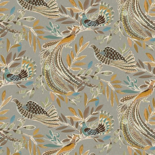 Обои JWall Paraiso 50303 райские птицы серые