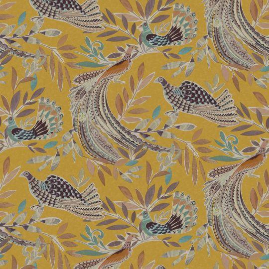 Обои JWall Paraiso 50304 райские птицы горчичные