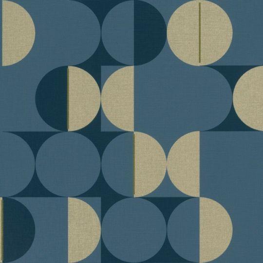 Обои Rasch Club Botanique 538069 геометрия круги умеренный синий