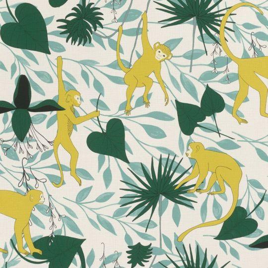 Шпалери Rasch Club Botanique 540130 мавпочки в лісі світлі
