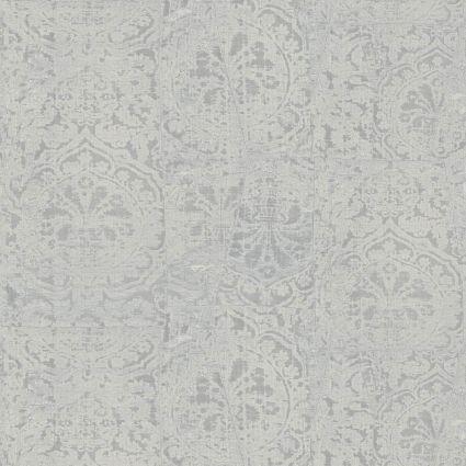 Шпалери Sirpi JV Kerala 601 5652 затерта тканина з гобеленами світло-сіра