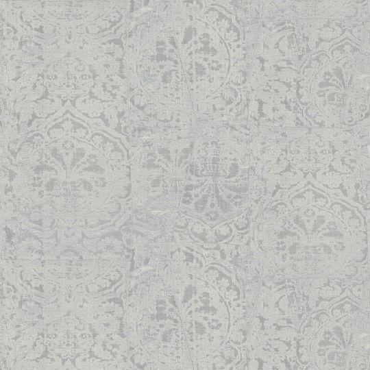 Обои Sirpi JV Kerala 601 5652 затертая ткань с гобеленами светло-серая