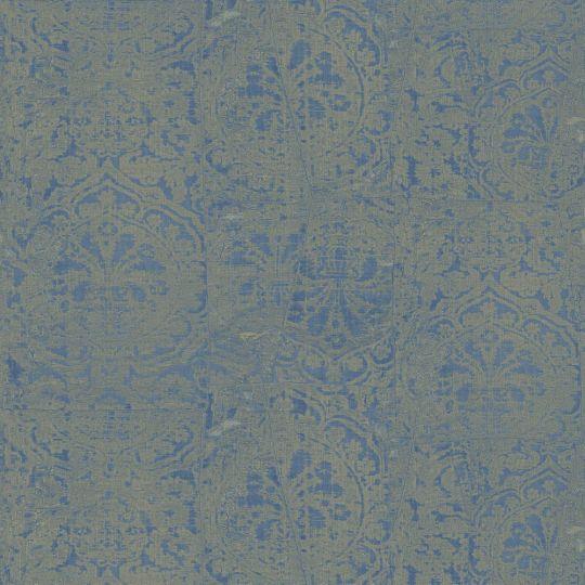 Обои Sirpi JV Kerala 601 5653 затертая ткань с гобеленами сине-зеленая