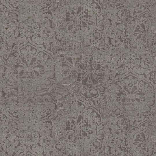Обои Sirpi JV Kerala 601 5655 затертая ткань серебряная с коричневым