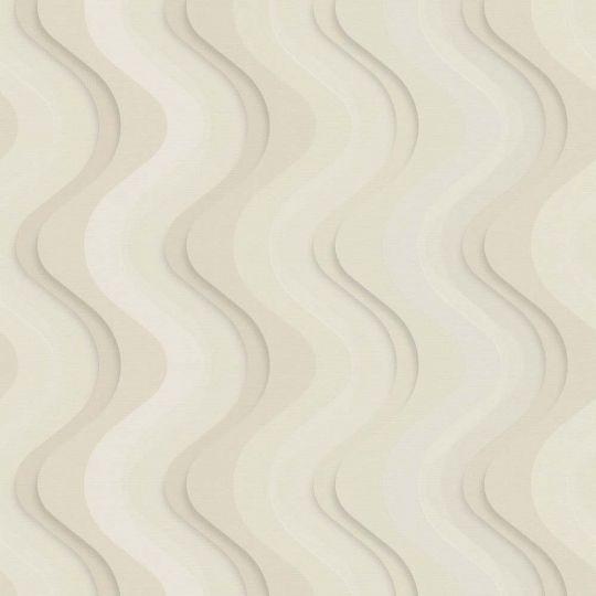 Шпалери Dekens Balade 664-01 хвилі 3D бежеві