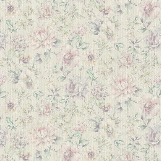 Метрові шпалери Rasch Maximum 16 916416 квітучі квіти аквареллю ніжно-рожеві