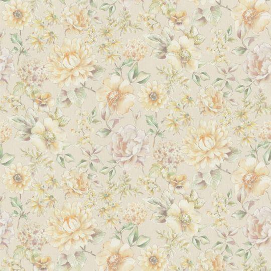 Метровые обои Rasch Maximum 16 916430 цветущие цветы акварелью персиковые