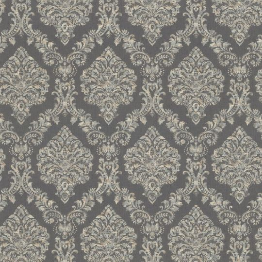 Метрові шпалери Rasch Maximum 16 916553 з гобеленами графітові