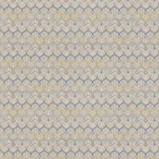 Метрові шпалери Rasch Maximum 16 917246 геометричний патерн сіро-жовтий