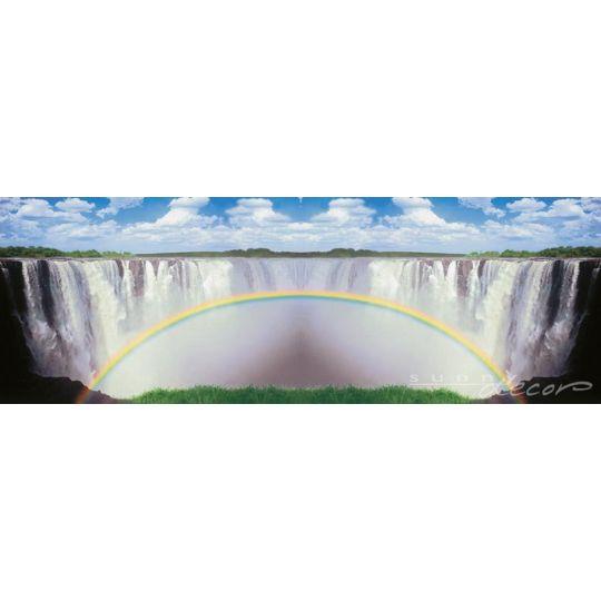 Фотообои Komar 94036f радуга на фоне водопада 388 х 135 см