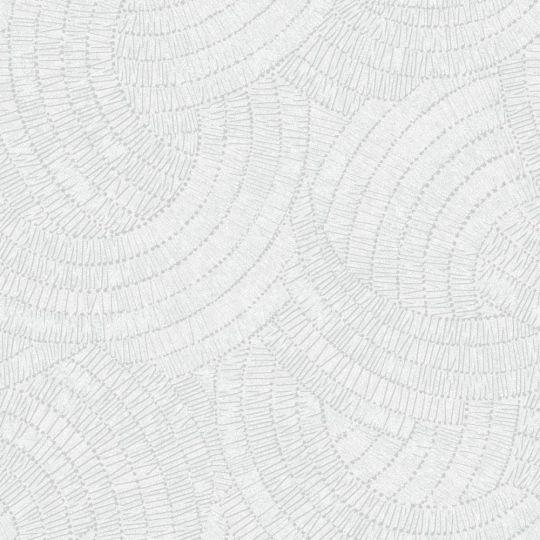 Обои Grandeco Phoenix A48101 узор белый с блестками