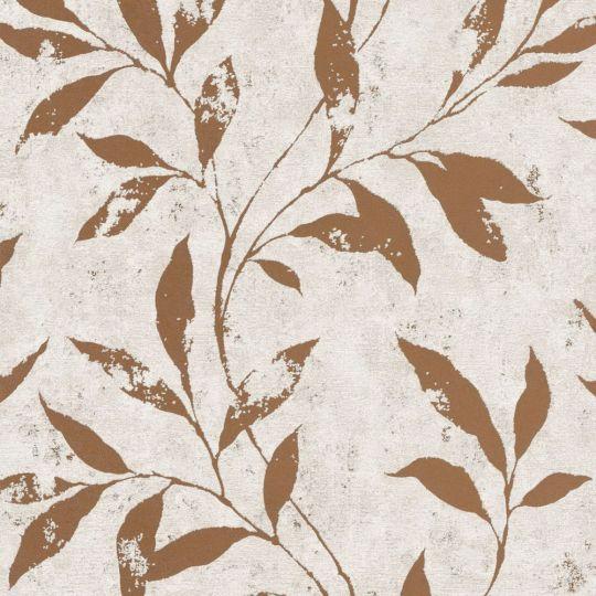 Шпалери Grandeco Phoenix A48303 бронзові гілки на кремовому