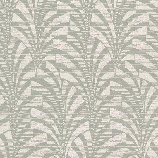 Шпалери Grandeco Phoenix A53303 арт-деко біло-зелені