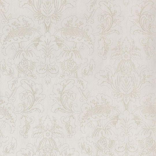 Обои Casadeco Ambassade AMBA81302103 золотые классические узоры на белом
