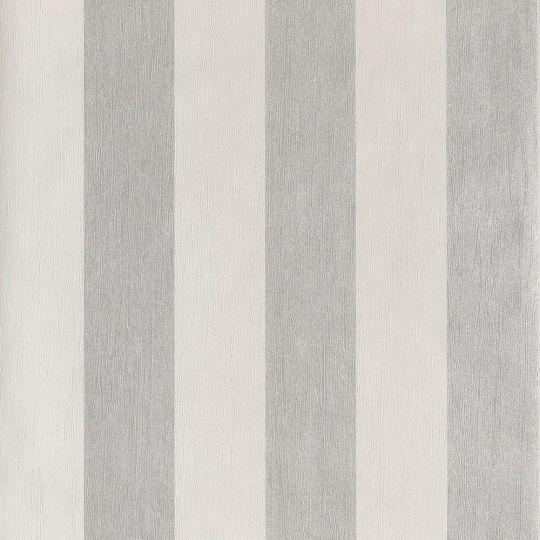 Шпалери Casadeco Ambassade AMBA81319103 в смужку біло-срібні
