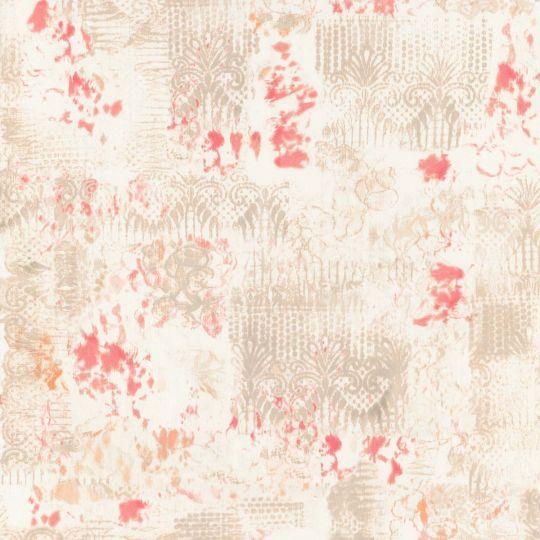 Обои Caselio Arty ARY67013082 абстракция бежево-красная