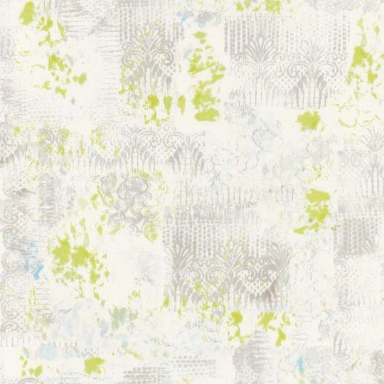 Обои Caselio Arty ARY67017070 абстракция серо-салатовая