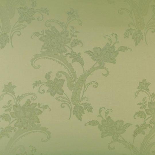 Текстильні шпалери Alberto Pulino Bellissima ATB49 салатові візерунки з квітами Італія ширина 1,38 м