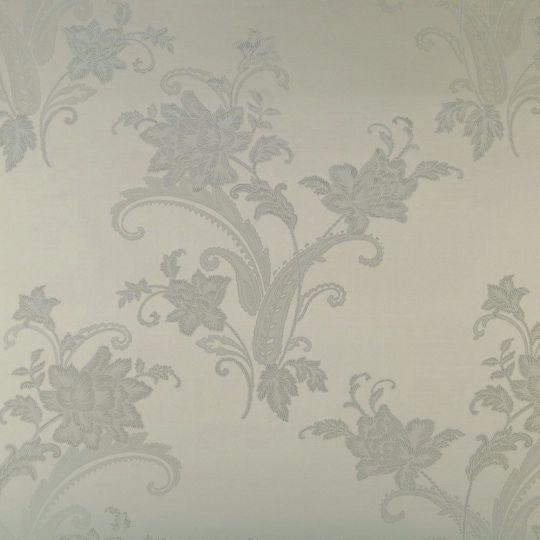 Текстильні шпалери Alberto Pulino Bellissima ATB62 сірі візерунки з квітами Італія ширина 1,38 м