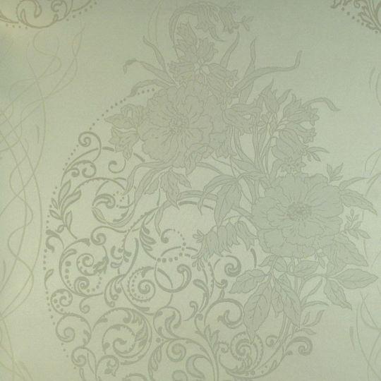 Текстильні шпалери Alberto Pulino Bellissima ATB63 сірі візерунки з квітами Італія ширина 1,38 м