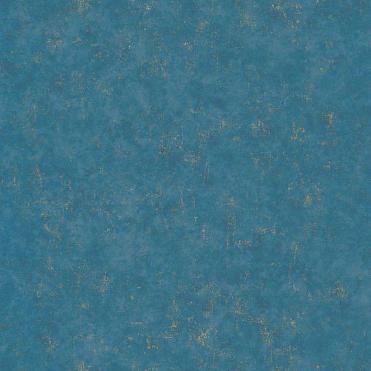Обои Caselio Beton BET101496020 под синий бетон с золотинкой