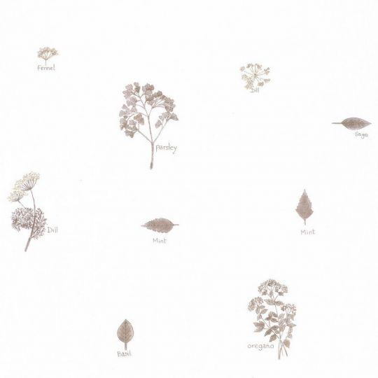 Обои Caselio Au Bistrot d'Alice BIS100621000 итальянские травы коричневые