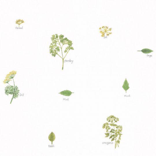 Обои Caselio Au Bistrot d'Alice BIS100627046 итальянские травы зеленые