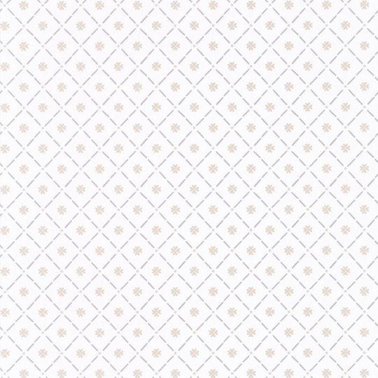 Обои Caselio Au Bistrot d'Alice BIS100651003 полотно клеточка белое