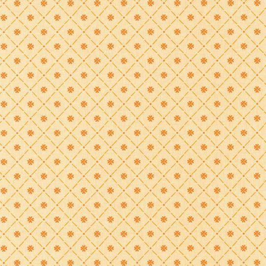 Обои Caselio Au Bistrot d'Alice BIS100652030 полотно клеточка оранжевое
