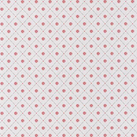 Обои Caselio Au Bistrot d'Alice BIS100658026 полотно клеточка серо-красное