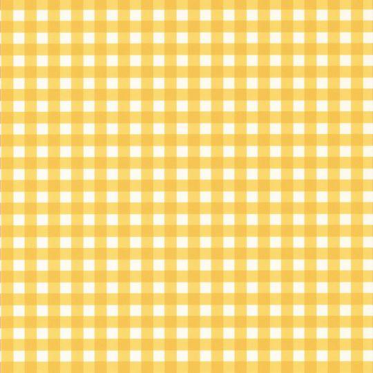 Обои Caselio Au Bistrot d'Alice BIS100662020 клеточка лимонно-желтый