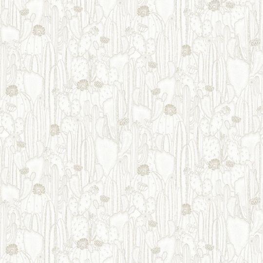 Шпалери Casadeco Botanica BOTA85920298 кактуси білі