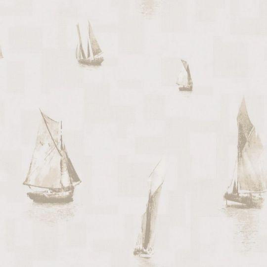 Обои Casadeco Baltic BTI29271105 лодочки бежевые