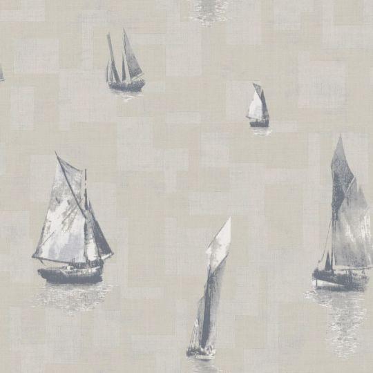 Обои Casadeco Baltic BTI29271230 лодки темно-серые