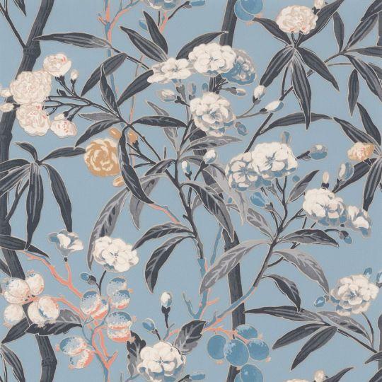 Обои Casadeco Cuba CBBA84336226 цветущие ветви голубые