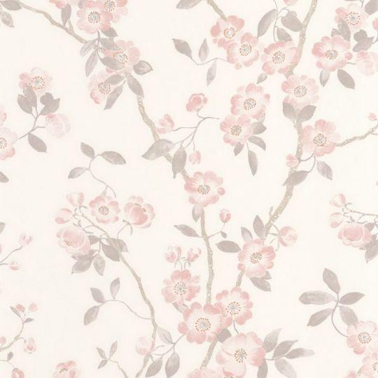 Шпалери Casadeco Delicacy DELY85394346 весняне цвітіння рожеве