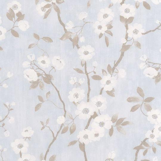 Шпалери Casadeco Delicacy DELY85396208 весняне цвітіння блакитне