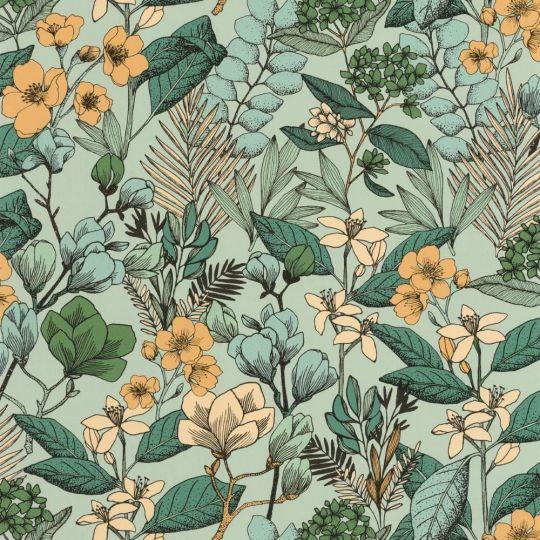 Шпалери Caselio Flower Power FLP101857129 квітучий сад зелений