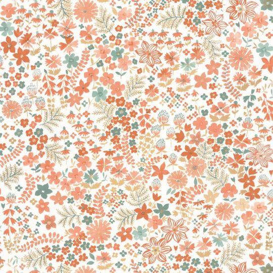 Шпалери Caselio Flower Power FLP101863073 квіткова розсип червона