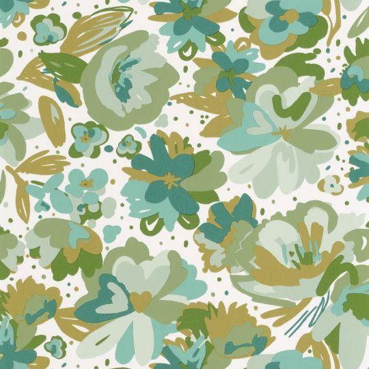 Шпалери Caselio Flower Power FLP101877175 квіти малюнок салатовий