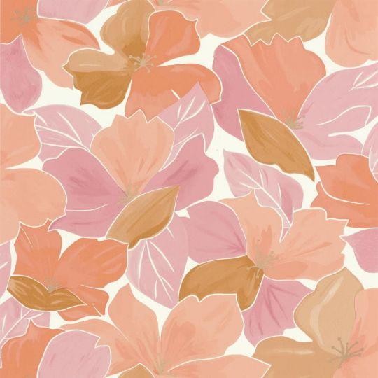 Обои Caselio Flower Power FLP101884032 цветение персиковое